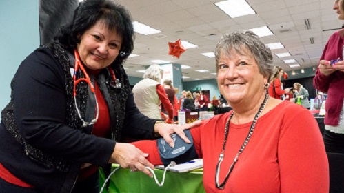 Blood Pressure checks at 2018 Health Expo